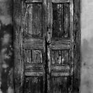 An Old Door in Milan, BW. Corso Lodi, 47 by Igor Pozdnyakov