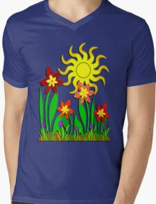 Fanciful Flowers Mens V-Neck T-Shirt