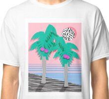 Most Definately - palm tree throwback memphis style retro art print 80s 1980 neon palm springs Classic T-Shirt