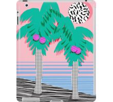 Most Definately - palm tree throwback memphis style retro art print 80s 1980 neon palm springs iPad Case/Skin