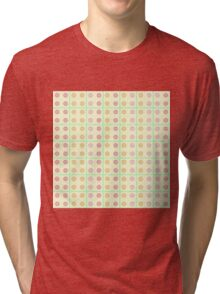Grid and dots Tri-blend T-Shirt