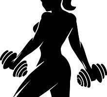 Fitness Woman Emblem by devaleta