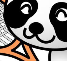 Panda Tennis Player Sticker