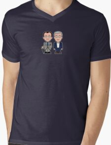Mycroft and Lestrade mini people (shirt) Mens V-Neck T-Shirt