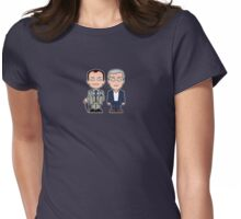 Mycroft and Lestrade mini people (shirt) Womens Fitted T-Shirt
