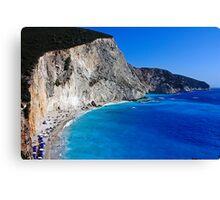 Beach in Greece 10 Canvas Print