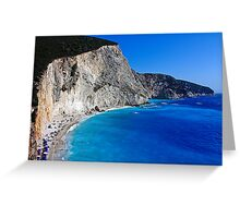 Beach in Greece 10 Greeting Card