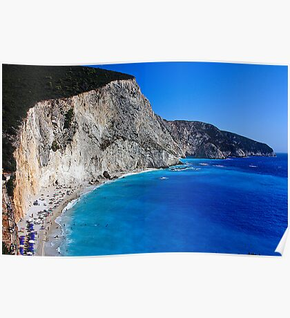 Beach in Greece 10 Poster