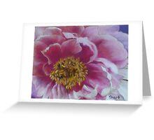 Peony - pastel Greeting Card