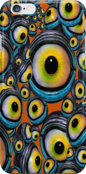 Halloween Eyeballs .. iphone case by LoneAngel