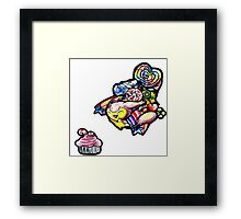 Skitty in candyland! Framed Print