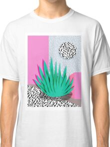 Dag - throwback memphis 1980s neon art pink pastel pattern black and white minimal art design urban Classic T-Shirt
