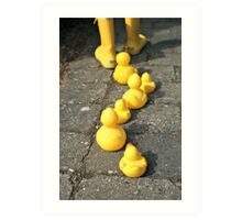 Follow the yellow Art Print