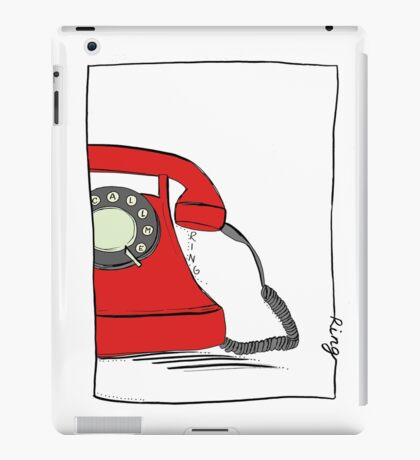 Call me  on the red retro telephone iPad Case/Skin