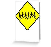 Runners Crossing Greeting Card