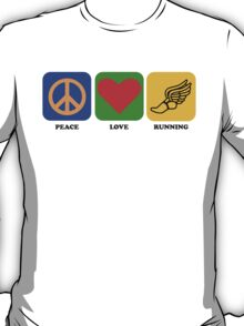 Peace Love Running T-Shirt