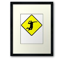 Volleyball Spike Crossing Framed Print