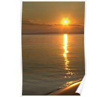 Sunset over Slave Lake Poster