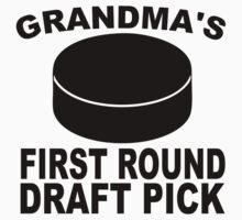 Grandma's First Round Draft Pick Hockey One Piece - Short Sleeve