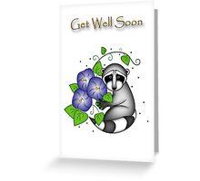 Get Well Soon Raccoon Greeting Card