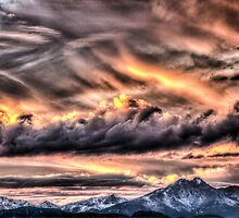 Tortured Sky - Colorado Rockies Sunset by nikongreg