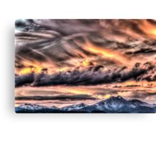 Tortured Sky - Colorado Rockies Sunset Canvas Print