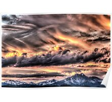 Tortured Sky - Colorado Rockies Sunset Poster