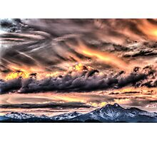 Tortured Sky - Colorado Rockies Sunset Photographic Print