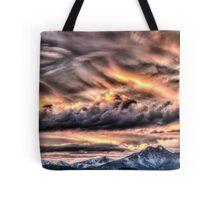 Tortured Sky - Colorado Rockies Sunset Tote Bag