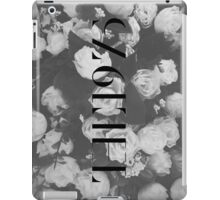 The 1975 Black and White Floral Design iPad Case/Skin