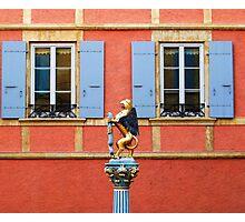 Fountain Sculpture. Neuchatel, Switzerland Photographic Print