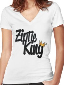 Zip Tie King Women's Fitted V-Neck T-Shirt
