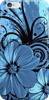 Blue flower of passion by kobalos