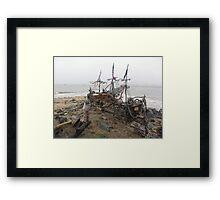 THE BLACK PEARL SHIP Framed Print