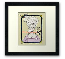 CUT HERE Framed Print