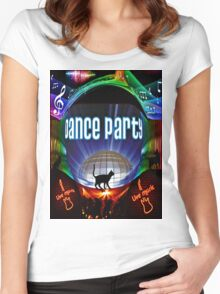 the black cat dance party Women's Fitted Scoop T-Shirt