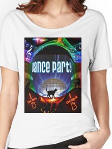 the black cat dance party Women's Relaxed Fit T-Shirt