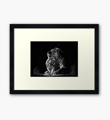 Tiger Mother Framed Print