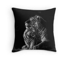Tiger Mother Throw Pillow