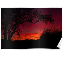 St Blazey Sunset Poster