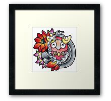 Darumaka - Pokemon tattoo art Framed Print