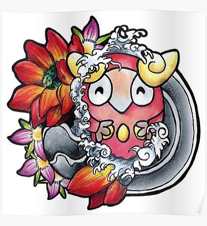 Darumaka - Pokemon tattoo art Poster