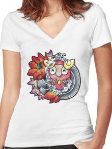 Darumaka - Pokemon tattoo art Women's Fitted V-Neck T-Shirt