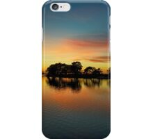 Sunset Over The Pond iPhone Case/Skin