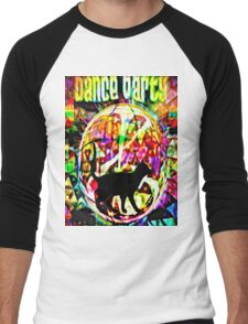 the black cat dance party Men's Baseball ¾ T-Shirt