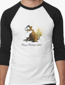 Happy Thanksgivukkah Men's Baseball ¾ T-Shirt