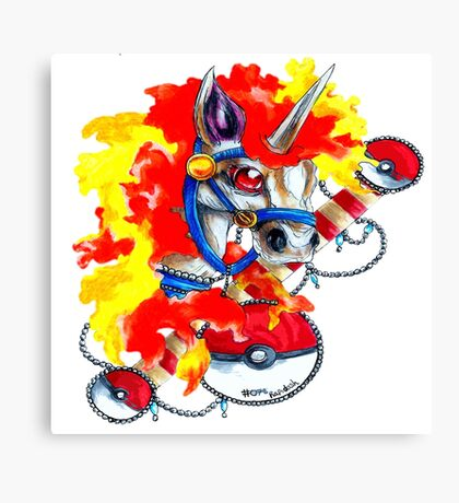 Rapidash - Pokemon Tattoo Inspiration Canvas Print