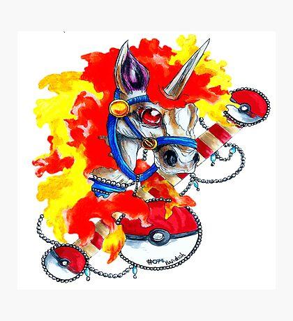 Rapidash - Pokemon Tattoo Inspiration Photographic Print