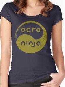 Acro Ninja - gold Women's Fitted Scoop T-Shirt