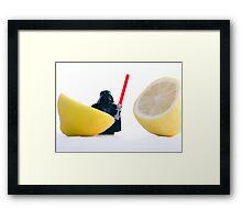 Darth Lemon. Framed Print